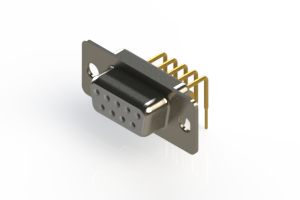 630-M09-640-WT1 - Right Angle D-Sub Connector