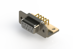 630-M09-640-WT4 - Right Angle D-Sub Connector