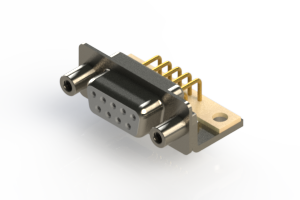 630-M09-640-WT6 - Right Angle D-Sub Connector