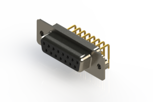 630-M15-240-BN2 - Right Angle D-Sub Connector