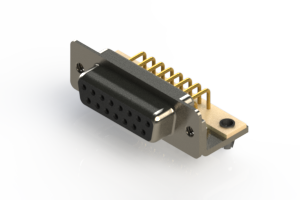 630-M15-240-BN3 - Right Angle D-Sub Connector
