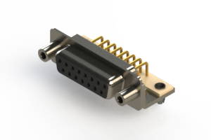 630-M15-240-BN5 - Right Angle D-Sub Connector