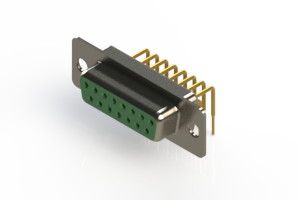 630-M15-240-GN1 - Right Angle D-Sub Connector