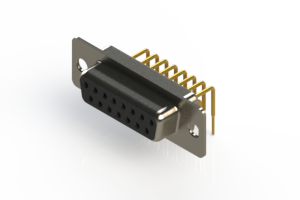 630-M15-640-BN1 - Right Angle D-Sub Connector