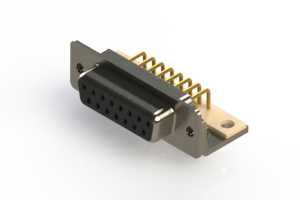 630-M15-640-BN4 - Right Angle D-Sub Connector