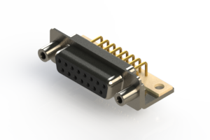 630-M15-640-BN6 - Right Angle D-Sub Connector