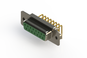 630-M15-640-GN2 - Right Angle D-Sub Connector
