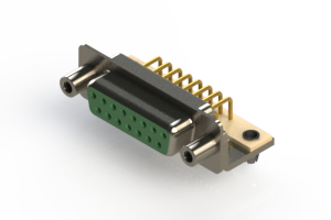 630-M15-640-GN5 - Right Angle D-Sub Connector