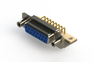 630-M15-640-LN6 - Right Angle D-Sub Connector