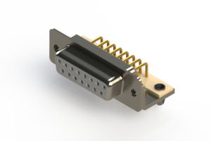 630-M15-640-WN3 - Right Angle D-Sub Connector