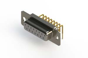 630-M15-640-WT1 - Right Angle D-Sub Connector