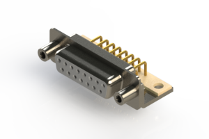 630-M15-640-WT6 - Right Angle D-Sub Connector