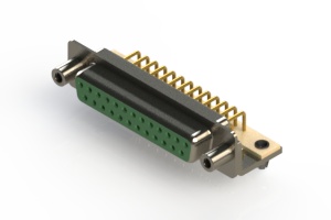 630-M25-240-GN5 - Right Angle D-Sub Connector