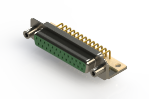 630-M25-240-GN6 - Right Angle D-Sub Connector