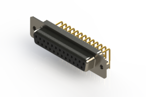630-M25-340-BN2 - Right Angle D-Sub Connector
