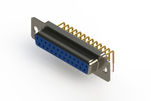 630-M25-340-LT1 - Right Angle D-Sub Connector