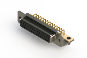 630-M25-640-BN3 - Right Angle D-Sub Connector