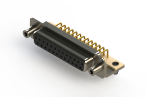 630-M25-640-BN5 - Right Angle D-Sub Connector