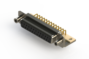 630-M25-640-BN6 - Right Angle D-Sub Connector