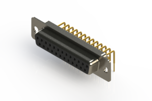 630-M25-640-BT1 - Right Angle D-Sub Connector