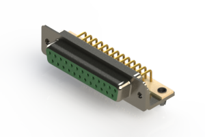 630-M25-640-GN3 - Right Angle D-Sub Connector