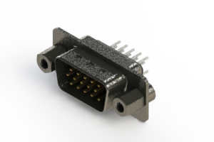 637-015-230-043 - Vertical High Density D-Sub Connector