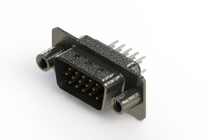637-015-230-049 - Vertical High Density D-Sub Connector