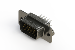 637-015-230-062 - Vertical High Density D-Sub Connector