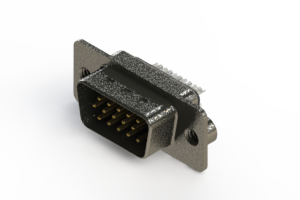 637-015-232-242 - Vertical High Density D-Sub Connector