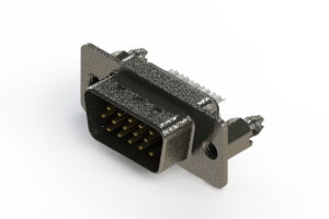 637-015-232-246 - Vertical High Density D-Sub Connector