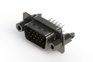 637-015-330-067 - Vertical High Density D-Sub Connector