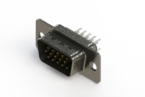 637-015-330-241 - Vertical High Density D-Sub Connector