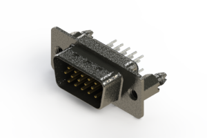 637-015-330-266 - Vertical High Density D-Sub Connector