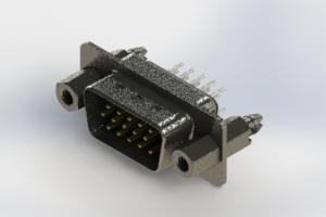 637-015-630-047 - Vertical High Density D-Sub Connector