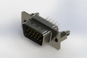 637-015-630-066 - Vertical High Density D-Sub Connector