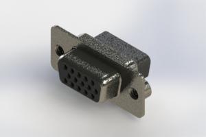 638-015-010-042 - Vertical High Density D-Sub Connector