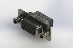 638-015-010-048 - Vertical High Density D-Sub Connector