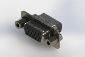 638-015-010-243 - Vertical High Density D-Sub Connector