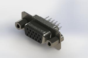 638-015-230-043 - Vertical High Density D-Sub Connector
