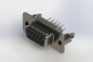 638-015-230-046 - Vertical High Density D-Sub Connector