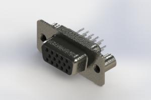 638-015-230-049 - Vertical High Density D-Sub Connector