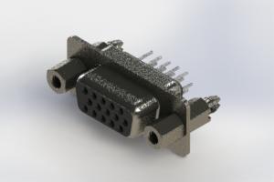 638-015-230-267 - Vertical High Density D-Sub Connector