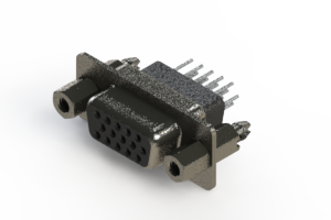 638-015-231-057 - Vertical High Density D-Sub Connector