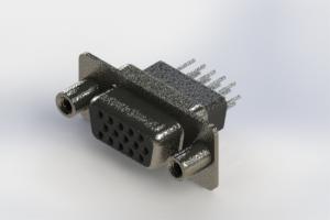 638-015-231-058 - Vertical High Density D-Sub Connector