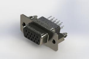 638-015-231-076 - Vertical High Density D-Sub Connector