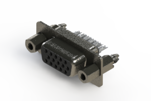 638-015-232-067 - Vertical High Density D-Sub Connector