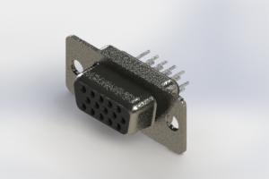 638-015-330-041 - Vertical High Density D-Sub Connector