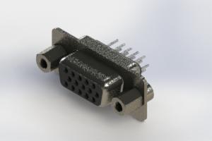 638-015-330-043 - Vertical High Density D-Sub Connector