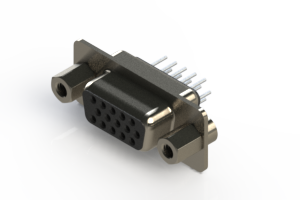 638-015-330-043 - Vertical D-Sub Connector