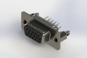 638-015-330-046 - Vertical High Density D-Sub Connector